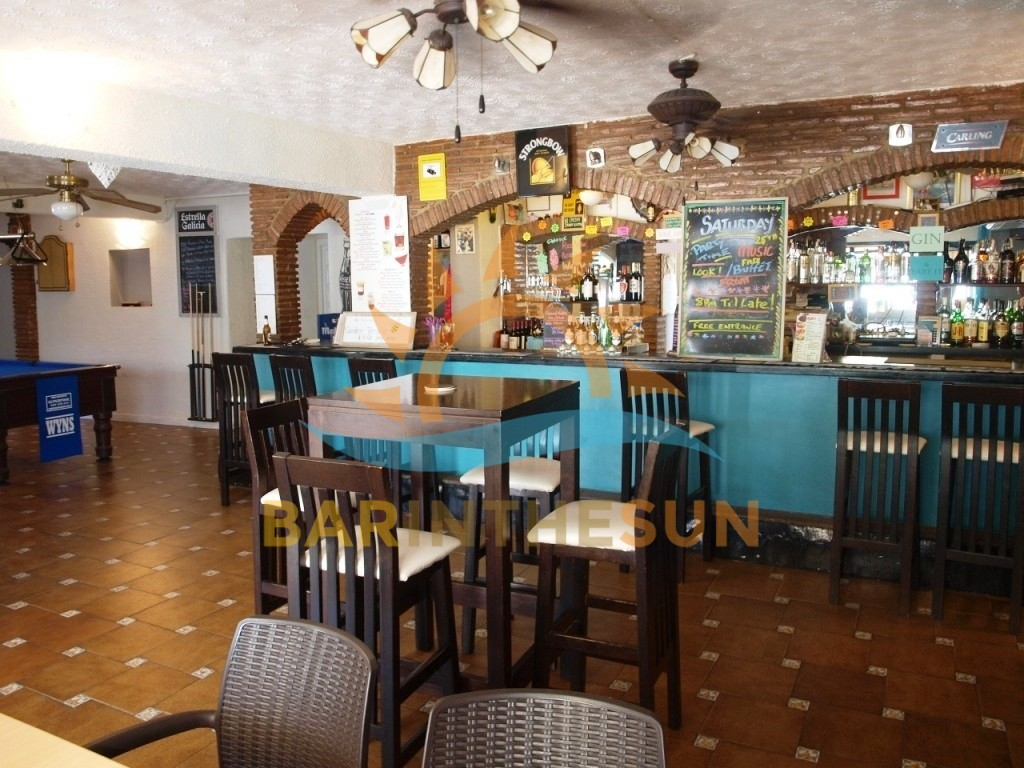 Long Established Cafe Sports Bar For Sale on The Costa Del Sol in Spain