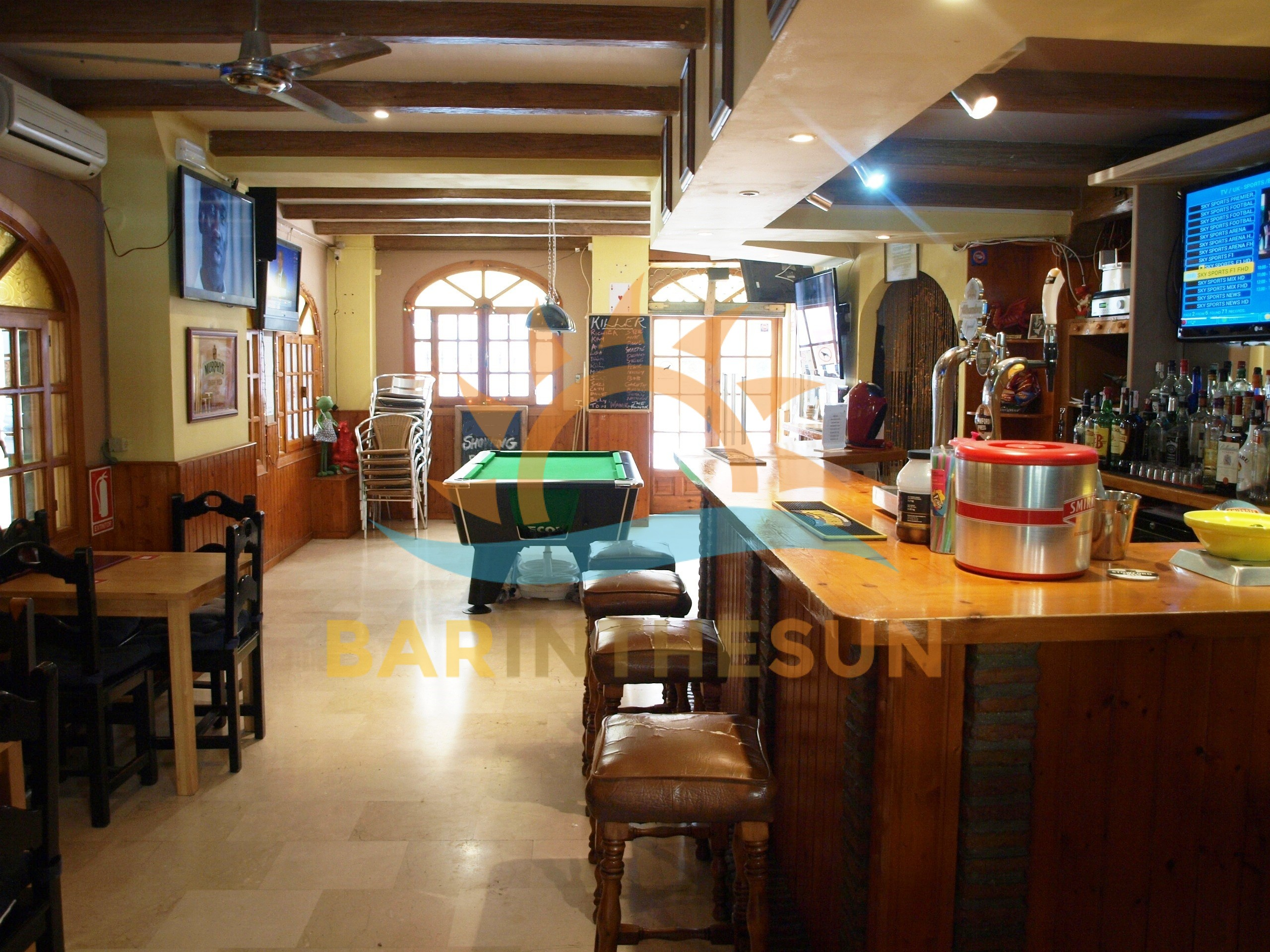 Long Established Cafe Sports Bar For Sale in Fuengirola on The Costa del Sol